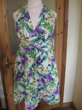 STUNNING Ladies ASOS green/lilac halterneck summer mini tunic/dress 10 NWT