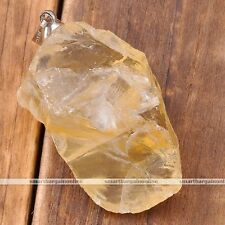 Natural Citrine Gemstone Healing Point Chakra Bead Pendant For Necklace Jewelry