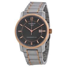 Tissot T-Classic Automatic Black Dial Titanium Mens Watch T0874075506700-AU