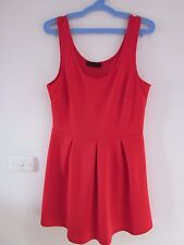 BEAUTIFUL  RED STRETCH DRESS BY ALLY, SIZE  8/10