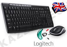 Logitech MK270 Wireless UK QWERTY KeyBoard and Mouse Desktop Combo Set Black &
