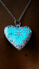 NEW Glow In The Dark Hollow Pendant Necklace, Steam Punk.