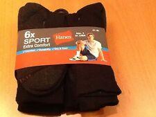 Hanes-Herren Sportsocken 6-er Pack,neu ,ausUSA,schwarz/dunkelgrau