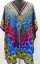 New Short Kimono V-Neck  Kaftan Short Ladies Beachwear Cocktail Lounge wear top