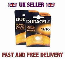 *Cheapest* 2 X Duracell CR1616 3V Lithium Button Battery Coin Cell DL1616 FAST