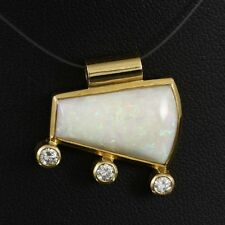 Exklusiver Opal Brillant Anhänger ca. 6,58 ct.   5,2g 750/- Gelbgold