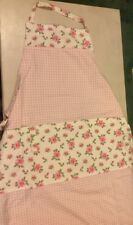 IKEA Evalilapron Adult Pink Floral Rose Gingham Shabby Chic Kitchen Wear BN X3