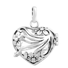 New mexican bola baby silver locket pendant for 18mm chime ball cage pendant