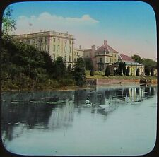 Glass Magic Lantern Slide STONELEIGH ABBEY FROM THE RIVER  C1900 PHOTO
