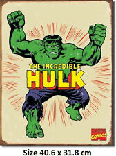 The Incredible Hulk Marvel RUSTIC Tin Sign 1438  Large Variety - Post Discounts