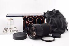 Contax Carl Zeiss Sonnar T* 180mm F2.8 MMJ w/Box Near Mint F/S from Japan