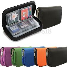 CF/MICRO SD/SDHC/MS/DS MEMORY CARD STORAGE BAG POUCH CASE COVER HOLDER WALLET UK