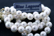 Mikimoto Blue Lagoon 5.5-6.0mm Pearl Necklace 18 Inch 14k Yellow Gold Clasp