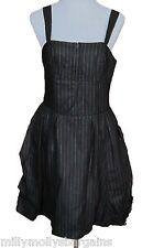 New Womens Black White NEXT Tailored Linen Dress Size 6 RRP £38