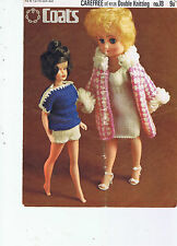 "COATS 78 VINTAGE KNITTING  PATTERN BY TEENAGE DOLLS 12"" - 14"" CLOTHES D.K."