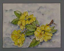Moderne Kunst Bollenhoff, Blütenzweig, datiert 26.8.96, akademischer Maler xxxxx