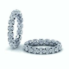 1.40 Carat Round Diamonds Designer Full Eternity Ring in White Gold