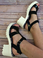 Ladies Black & White Jelly Shoes Size 7 - New