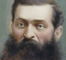 Biedermeier Herren Porträt Mann mit Bart Gemälde von musealer Qualität