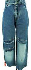 LADIES MID BLUE DISTRESSED DENIM CARGO STYLE JEANS, MIDESKO SIZE UK 10, LB078