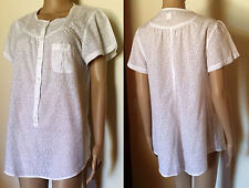 QUICKSILVER Size M White Semi Sheer Tunic