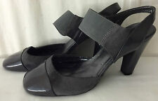 MARKS & SPENCER Womens Ladies Patent Grey Shoe Size 7 Eu 40.5; NEW !!!
