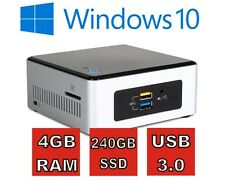 Intel® NUC PC mit 4GB RAM, 240GB SSD, USB 3.0 und Windows 10 Pro ( Win 10 )