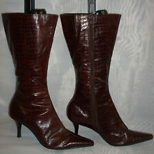Ladies(Barratts )Dark Brown Zip -Up  Mid Calf  Boots Size :6/39