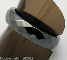 Magnetic Hematite Faceted Ring  Arthritic Pain & BP 19mm Diax6mm wide(J005-04B)