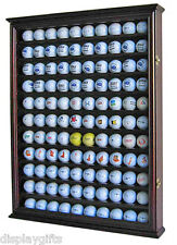 110 Golf Ball Display Case Holder Wall Cabinet, Glass Door, GB05-CHE