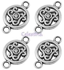 20 Antique Silver Connector Links - Charms Links 14mm LF NF CF - Patterned
