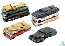 Walthers #949-3001 FLATTENED 4 CAR PACK - HO Model Trains & Layouts