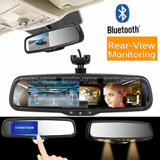 "Bluetooth Rear View Mirror Monitor 4.3"" TFT  LCD Screen For All Cars OEM Bracket"