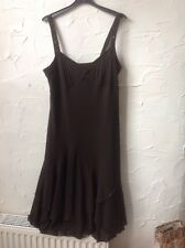 ��New *Chocolate Brown Per Una @M & S Dress 16 With Sequins RRP £45-cruise/party