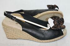 Lindsay Phillips-- Damenschuhe Sandalen - mit Keilabsatz (Schwarz)  Gr 40 Neu