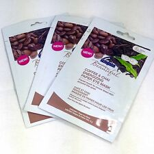 3 Freeman Coffee & Chai Energizing Paper Eye Masks Singles Caffeine Antioxidant