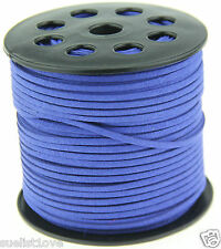 new 10ya 3mm sapphire Suede Leather String Jewelry Making Thread Cords hot
