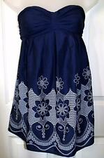 NEW QUALITY NAVY BLUE SUMMER BANDEAU CAMISOLE TOP SIZE 8   # 962