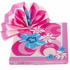 Amscan 16 Pack BARBIE Pink Girl Luncheon Paper Napkin 2ply