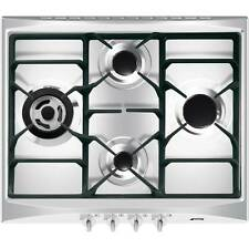 Smeg SR264XGH Cucina Built In 60cm 4 Burners Gas Hob Stainless Steel New