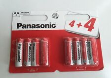 8 x PANASONIC AA DOUBLE A BATTERIES BATTERY 1.5V R6 NEW £1.99 FREE POSTAGE
