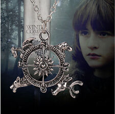 ☆ GAME OF THRONES - Four Houses Compass Necklace Pendant + Black Velvet Pouch  ☆