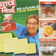 4pcs Silicone Wraps Seal Cover Stretch Cling Film Fresh Food Keep Kitchen Tools