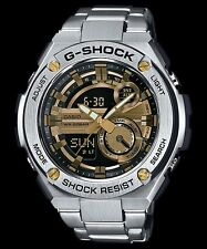 GST-210D-9A Gold  Men's G-shock Watches Stainless Steel Band New