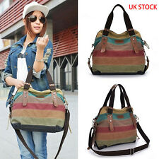Women Canvas Handbag Shoulder Ladies Messenger Crossbody Tote Satchel Bag UK