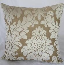 Ivory Acanthus Classic Velvet Cushion Cover ~ 45cm Home Decor Pillow Case Throw