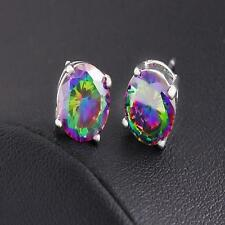 Hot wholesale Fine Jewelry Solid 18K White Gold Fashion Fine 6MM Earrings gift