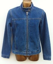 ANNE BROOKS PETITE DEBENHAMS Denim Moto Style Zip Jacket Size 10 P WORN ONCE