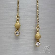 ZIERLICH & BRILLANT Durchzieher Ohrringe & Zirkonia Ohrstecker ygf 14k Gold 585