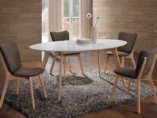 MONTANA Ovaler Esstisch Küchentisch Weiß/Eiche scandinavian Loft Style 90x160cm
